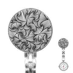 Fractal Sketch Light Stainless Steel Nurses Watch by jumpercat