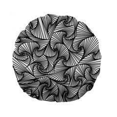 Fractal Sketch Light Standard 15  Premium Flano Round Cushions