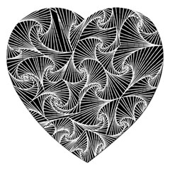 Fractal Sketch Dark Jigsaw Puzzle (heart) by jumpercat