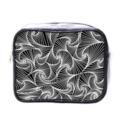 Fractal Sketch Dark Mini Toiletries Bags by jumpercat