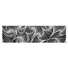 Fractal Sketch Dark Satin Scarf (oblong)