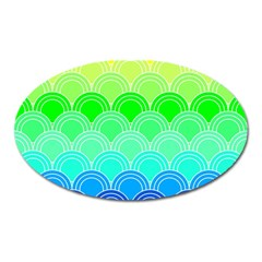 Art Deco Rain Bow Oval Magnet by 8fugoso