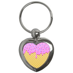 Strawberry Ice Cream Key Chains (heart)  by jumpercat