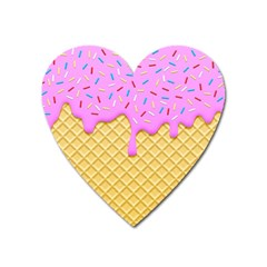 Strawberry Ice Cream Heart Magnet by jumpercat