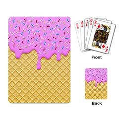 Strawberry Ice Cream Playing Card
