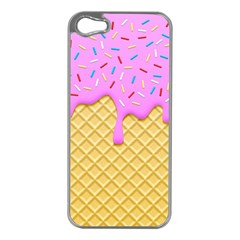 Strawberry Ice Cream Apple Iphone 5 Case (silver)