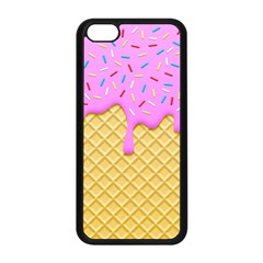 Strawberry Ice Cream Apple Iphone 5c Seamless Case (black) by jumpercat