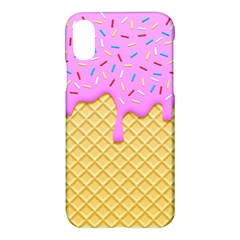 Strawberry Ice Cream Apple Iphone X Hardshell Case by jumpercat