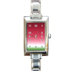 Watermelon Rectangle Italian Charm Watch by jumpercat