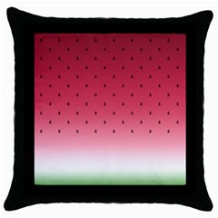 Watermelon Throw Pillow Case (black) by jumpercat