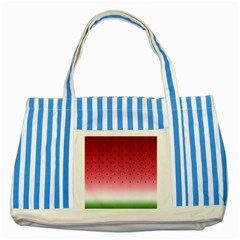 Watermelon Striped Blue Tote Bag by jumpercat