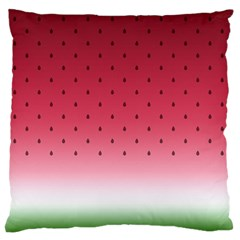 Watermelon Large Flano Cushion Case (one Side) by jumpercat