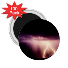 Storm Weather Lightning Bolt 2 25  Magnets (100 Pack)  by BangZart