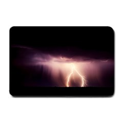 Storm Weather Lightning Bolt Small Doormat  by BangZart