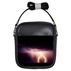 Storm Weather Lightning Bolt Girls Sling Bags by BangZart