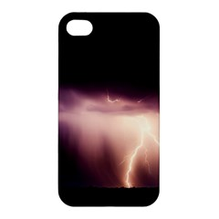 Storm Weather Lightning Bolt Apple Iphone 4/4s Premium Hardshell Case