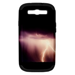 Storm Weather Lightning Bolt Samsung Galaxy S Iii Hardshell Case (pc+silicone)