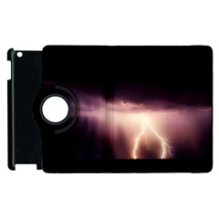 Storm Weather Lightning Bolt Apple Ipad 3/4 Flip 360 Case