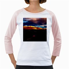 India Sunset Sky Clouds Mountains Girly Raglans
