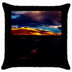 India Sunset Sky Clouds Mountains Throw Pillow Case (black)