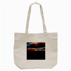 India Sunset Sky Clouds Mountains Tote Bag (cream) by BangZart