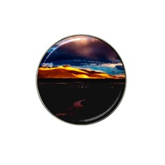 India Sunset Sky Clouds Mountains Hat Clip Ball Marker (4 Pack)