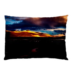 India Sunset Sky Clouds Mountains Pillow Case