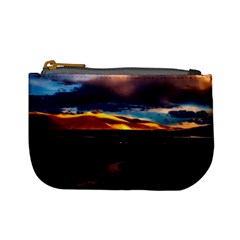 India Sunset Sky Clouds Mountains Mini Coin Purses by BangZart
