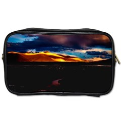 India Sunset Sky Clouds Mountains Toiletries Bags 2 Side