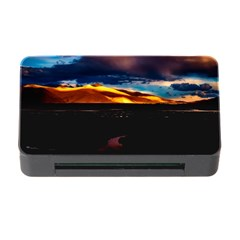 India Sunset Sky Clouds Mountains Memory Card Reader With Cf
