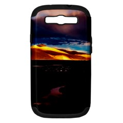 India Sunset Sky Clouds Mountains Samsung Galaxy S Iii Hardshell Case (pc+silicone) by BangZart