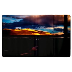 India Sunset Sky Clouds Mountains Apple Ipad 2 Flip Case