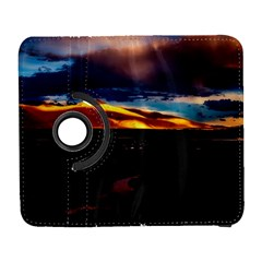 India Sunset Sky Clouds Mountains Galaxy S3 (flip/folio) by BangZart