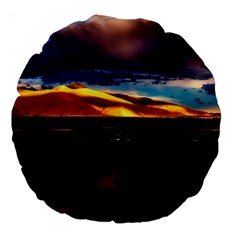 India Sunset Sky Clouds Mountains Large 18  Premium Round Cushions