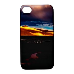 India Sunset Sky Clouds Mountains Apple Iphone 4/4s Hardshell Case With Stand