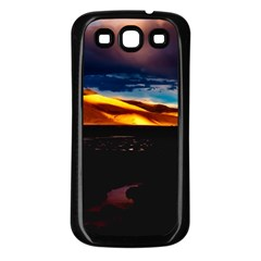 India Sunset Sky Clouds Mountains Samsung Galaxy S3 Back Case (black) by BangZart