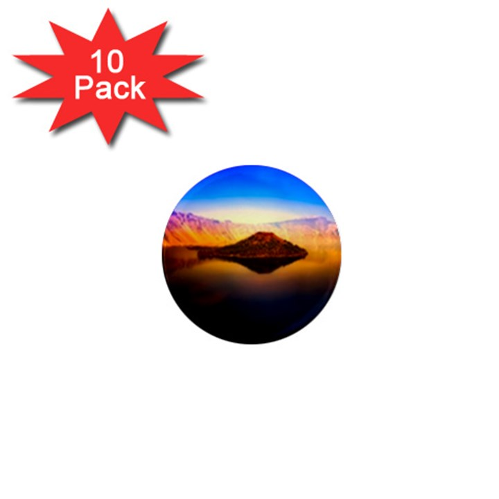 Crater Lake Oregon Mountains 1  Mini Magnet (10 pack)