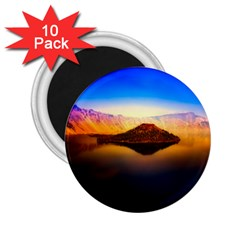 Crater Lake Oregon Mountains 2 25  Magnets (10 Pack)