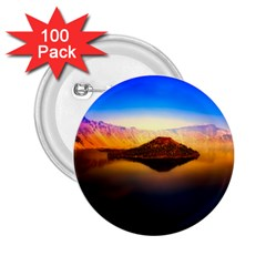 Crater Lake Oregon Mountains 2 25  Buttons (100 Pack)  by BangZart