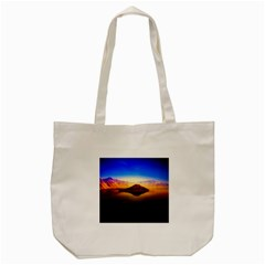 Crater Lake Oregon Mountains Tote Bag (cream)