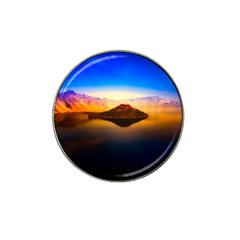 Crater Lake Oregon Mountains Hat Clip Ball Marker (4 Pack)