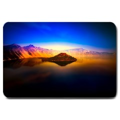 Crater Lake Oregon Mountains Large Doormat  by BangZart