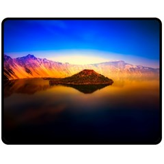 Crater Lake Oregon Mountains Fleece Blanket (medium)  by BangZart
