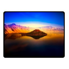 Crater Lake Oregon Mountains Fleece Blanket (small) by BangZart