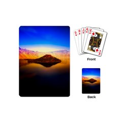 Crater Lake Oregon Mountains Playing Cards (mini)  by BangZart