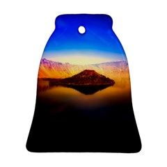 Crater Lake Oregon Mountains Ornament (bell) by BangZart