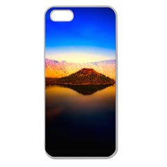 Crater Lake Oregon Mountains Apple Seamless Iphone 5 Case (clear) by BangZart