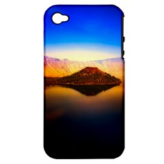 Crater Lake Oregon Mountains Apple Iphone 4/4s Hardshell Case (pc+silicone) by BangZart