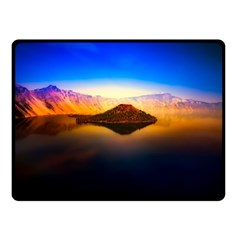 Crater Lake Oregon Mountains Double Sided Fleece Blanket (small)  by BangZart