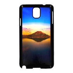 Crater Lake Oregon Mountains Samsung Galaxy Note 3 Neo Hardshell Case (black) by BangZart